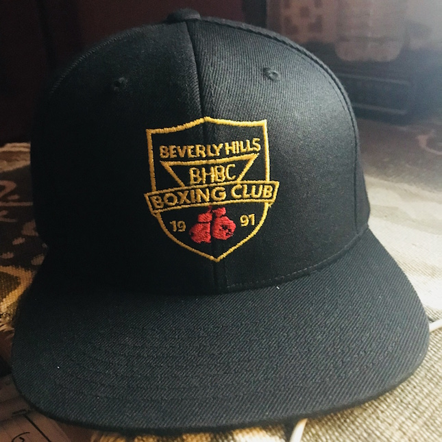 bhbc logo on stylish black baseball cap