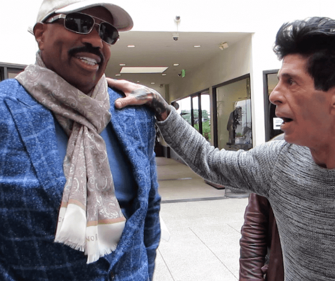 Steve Harvey at Guiseppe Franco Salon